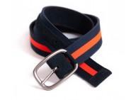 ceinture réversible daim & nylon - Liséré orange