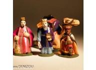 Santon - 3 Rois Mages avec dromadaire harnaché -  4 cm