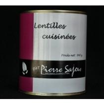 Lentilles cuisinées en conserve de 840 g