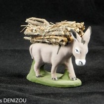 Santon - Âne aux fagots - 7 cm