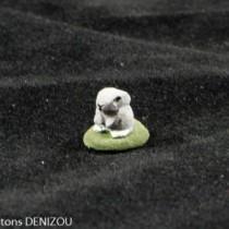 Santon - Lapin gris - 4 cm