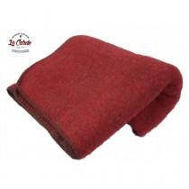 Plaid pur laine des Pyrénées  - Rouge