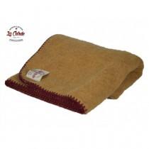 Plaid pur laine des Pyrénées  - JAUNE