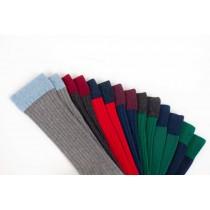 Lot de 3 paires de chaussette grise, bleue, rouge