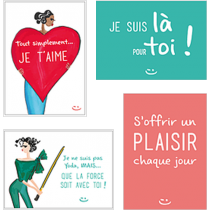 Smile In Box - MOTS DOUX - SMILE Cards