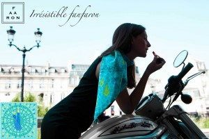 Foulard Fanfaron -  Collection Paris Panache - Concorde