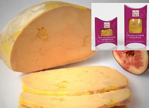 1/2  Foie gras de canard entier - Mi-Cuit - Poché