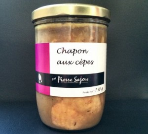 Chapon aux cèpes – Verrine de 750g