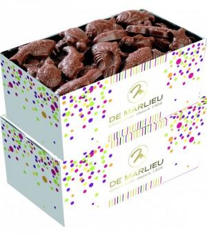 Friture de Pâques  - Mélange chocolat noir et chocolat au lait - 2 ballotins de 300 g