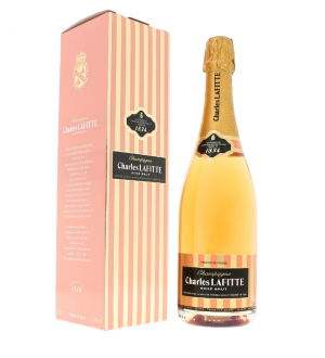 CHAMPAGNE - Charles Lafitte rosé - 6 bouteilles de 75cl