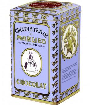 Galets de chocolat de cuisine à fondre (boîte métal) (60% cacao)