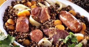 Lentilles verte du Puy au Porc Noir de Bigorre – Boîte 4,2 kg