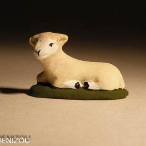 Santon - Mouton couché - 4 cm